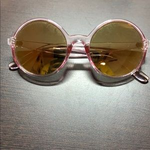 Gold and pink sunglasses